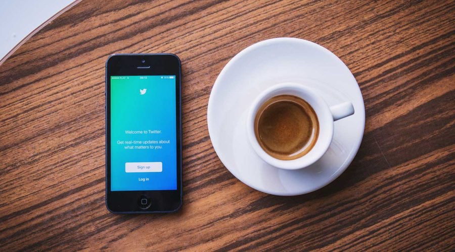 social media marketing with coffee