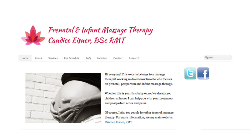 prenatalrmt.ca website screenshot