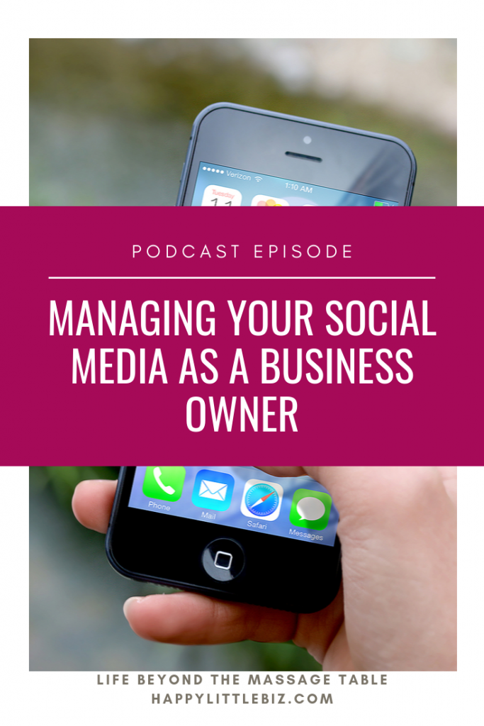 Managing your social media as a business owner