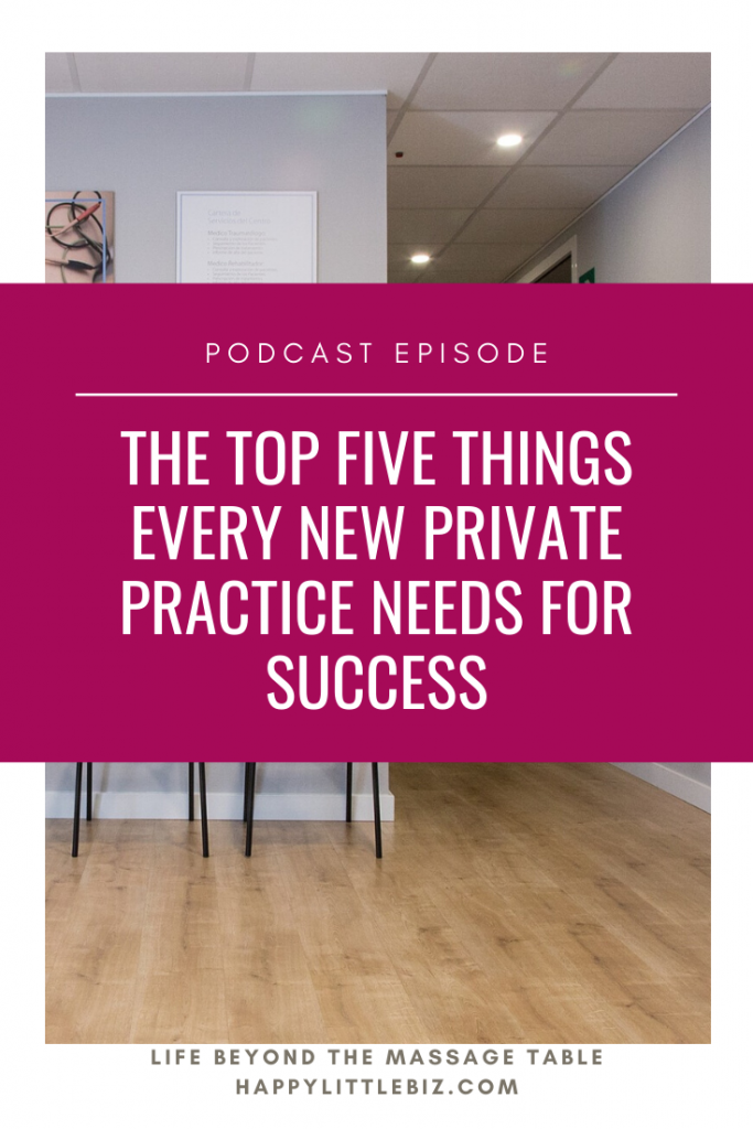 There are five major things you should strongly consider purchasing before opening your private practice to clients. Find out what they are in this podcast episode!