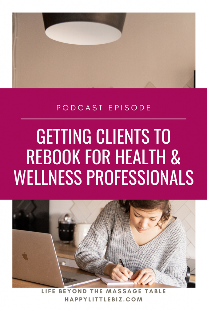 Getting clients to rebook is an important skill for any business owner, but especially for solo massage therapists or other health practitioners. It's all about building great relationships! Learn some tips on how to do this well in this podcast episode.
