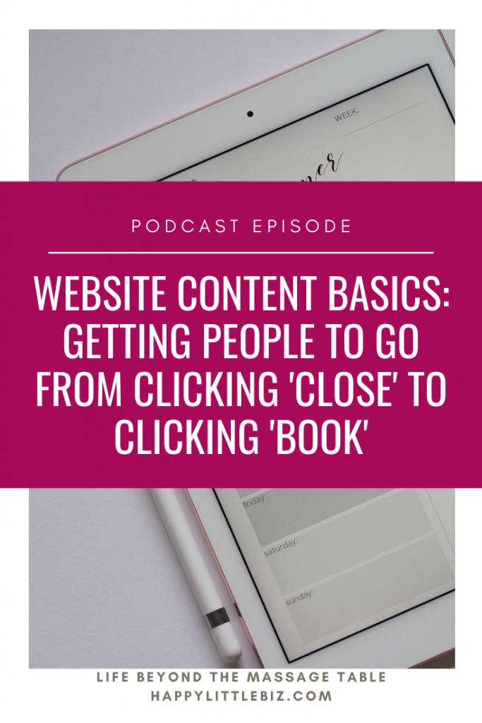 When building your own website, the content is often the thing that trips people up the most. Here are my biggest tips for creating website content. Avoid making these mistakes and you'll be well on your way to booking clients!