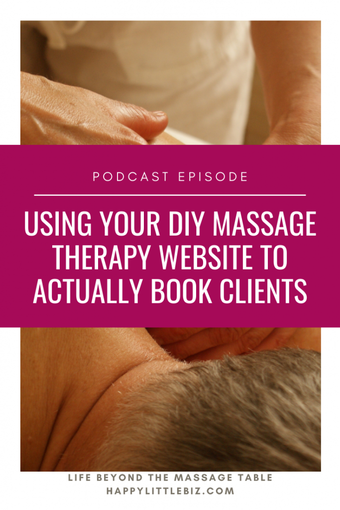 Taking your massage therapy website from done to actually getting bookings requires a bit of time and patience! We talk about the steps required in this podcast episode.