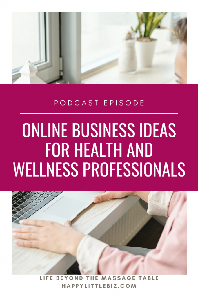 Developing an idea for your new online business can be tricky, but it doesn't have to be! If you're trying to move your massage therapy, health or wellness business online, this podcast episode can help.  #healthcare #onlinebusiness #massagetherapy