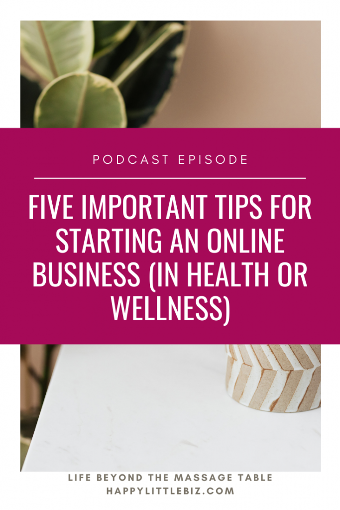 There is a lot to think about when moving your business online, so let's talk about some pitfalls to avoid and things to do in order to get more clients! Whether you do online classes, sell an online course, do telehealth sessions or sell products, these five things will help you be more successful!  #massagetherapy #healthcare #onlinebusiness
