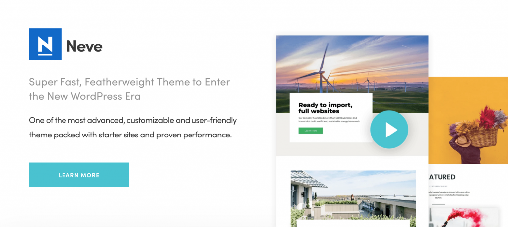 Neve WordPress Theme for Health and Wellness Businesses